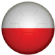 Poland Football Flag 25mm Flat Back